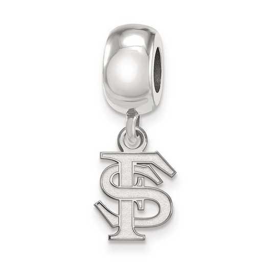 SS035FSU: SS Rh-P Logoart Florida State Univ Reflection Beads Charm