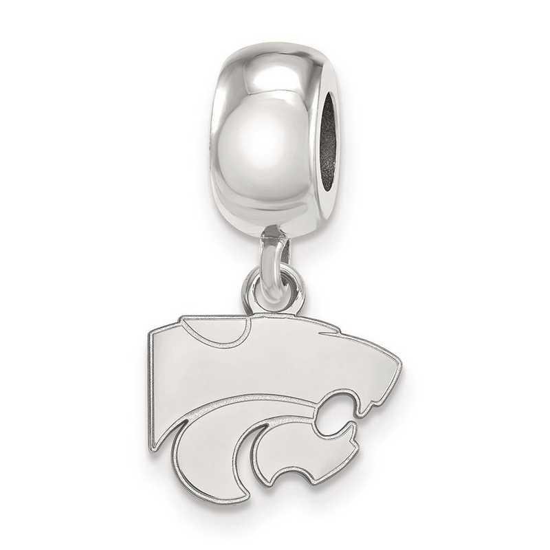 SS035KSU: SS Rh-P Logoart Kansas State Univ Xs Reflection Beads Charm