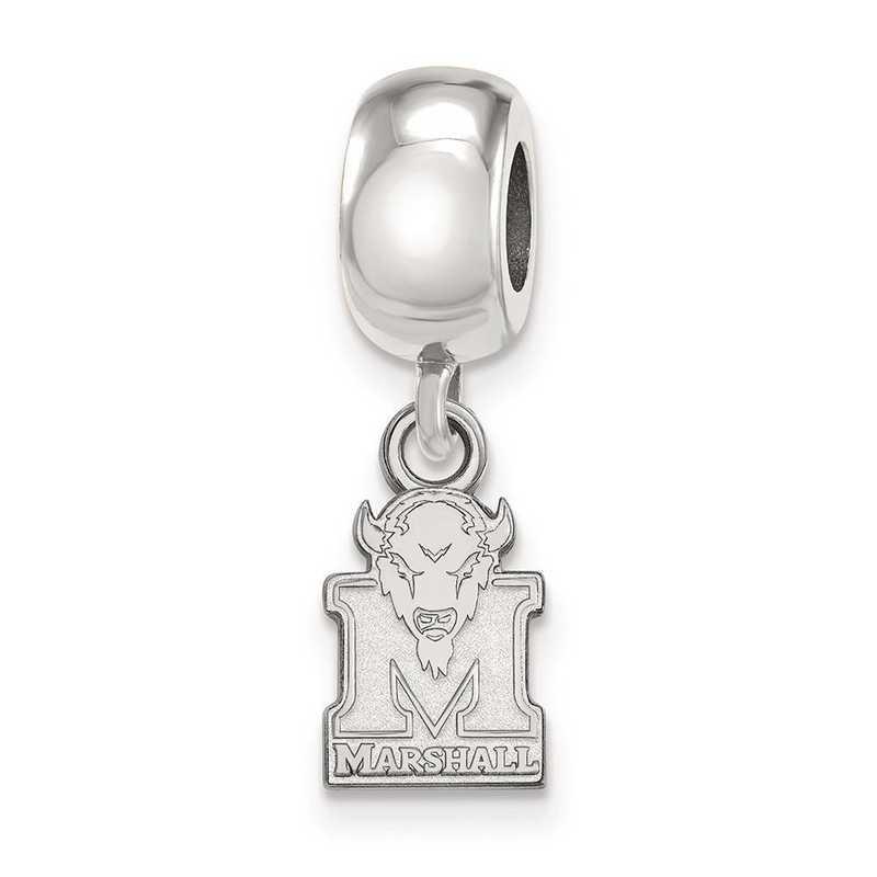 SS035MAU: SS Rh-P Logoart Marshall Univ Xs Reflection Beads Charm