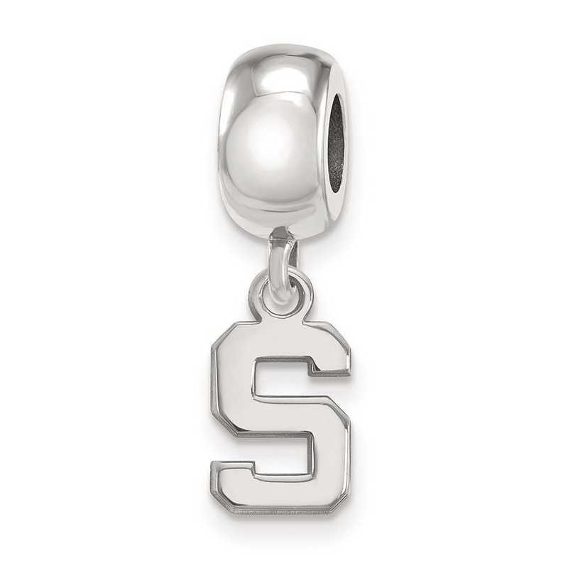 SS035MIS: SS Logoart Michigan State Univ Xs Reflection Beads Charm