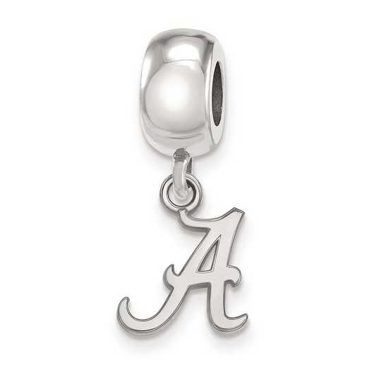 SS035UAL: SS Rh-P Logoart Univ Of Alabama Xs Reflection Beads Charm