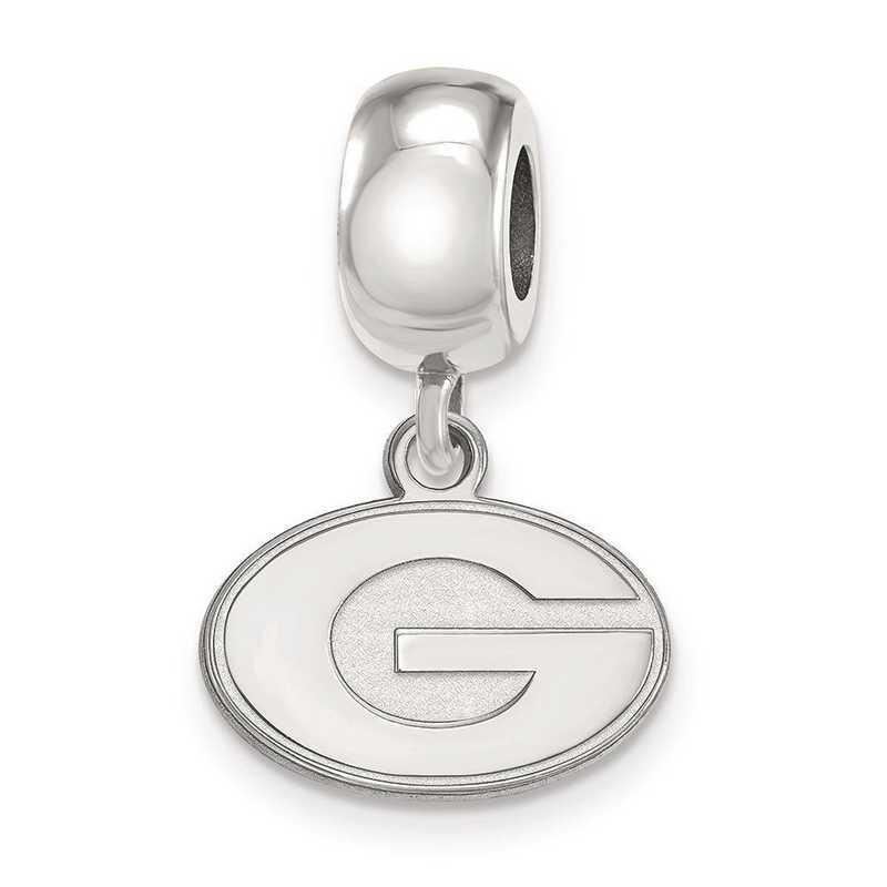 SS035UGA: SS Rh-P Logoart Univ Of Georgia Xs Reflection Beads Charm