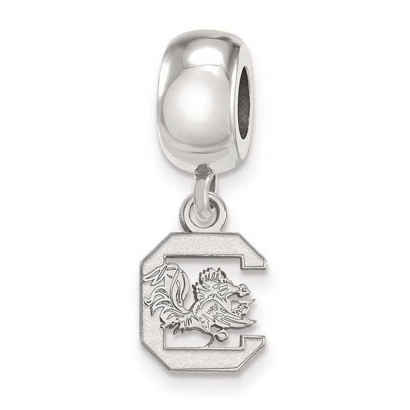 SS035USO: SS Rh-P Logoart U Of South Carolina Reflection Beads Charm