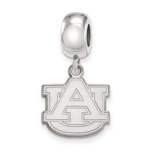 SS036AU: SS Rh-P Logoart Auburn Univ Small Dangle Reflection Beads