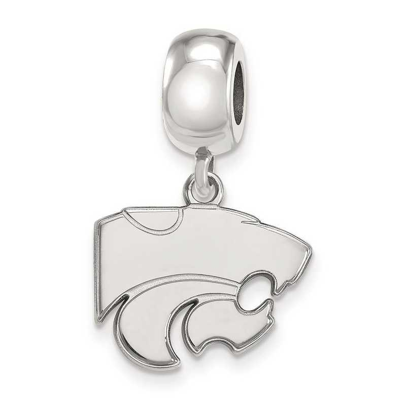 SS036KSU: SS Rh-P Logoart Kansas State Univ Small Reflection Beads