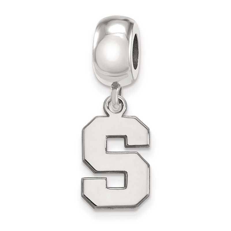 SS036MIS: SS Rh-P Logoart Michigan State Univ Small Reflection Beads