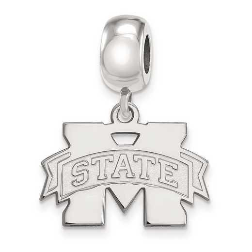 SS036MSS: SS Rh-P Logoart Mississippi State U Small Reflection Beads