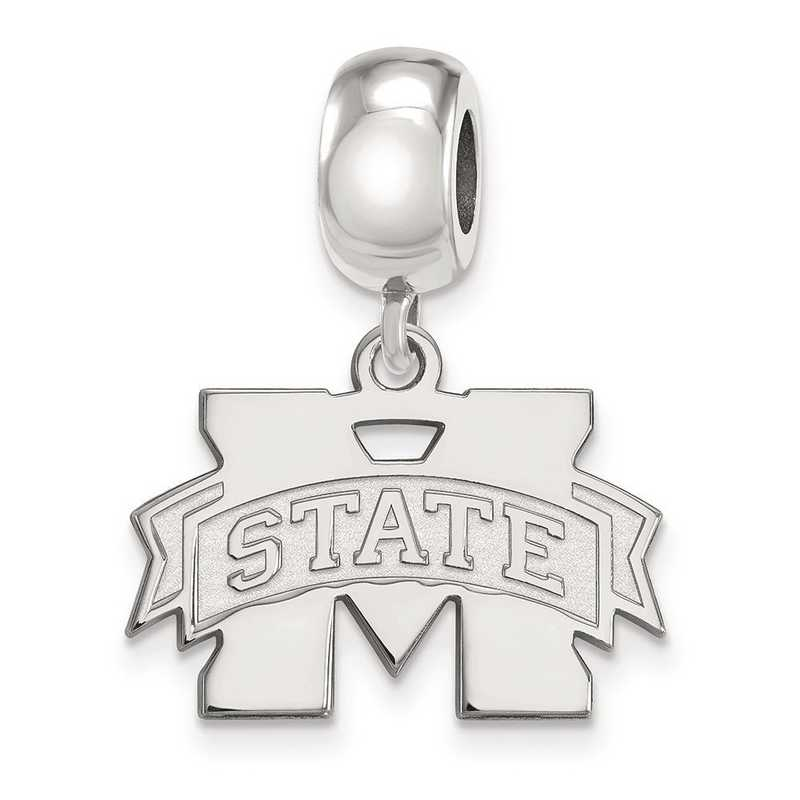 SS036MSS: SS Rh-P Logoart Mississippi State U Small Reflection Beads