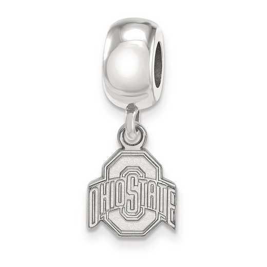 SS036OSU: SS Rh-P Logoart Ohio State Univ Xs Reflection Beads Charm