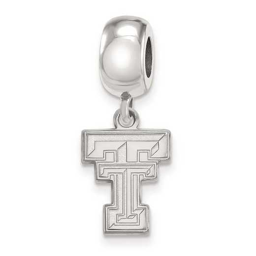 SS036TXT: SS Rh-P Logoart Texas Tech Univ Small Reflection Beads