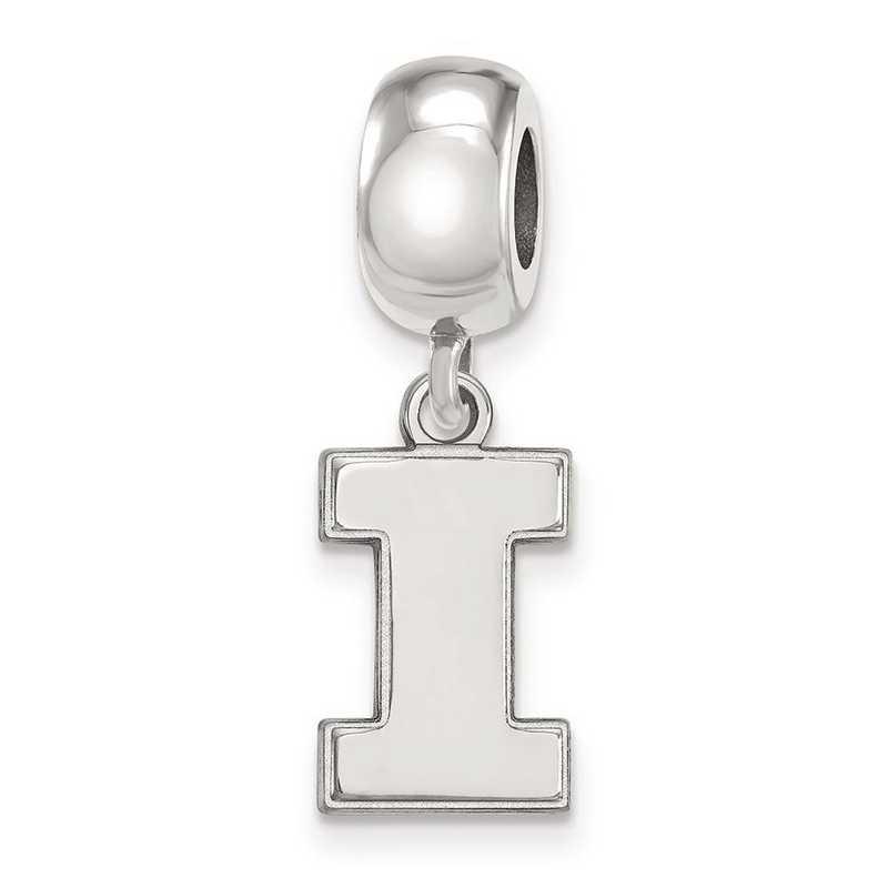 SS036UIL: SS Rh-P Logoart Univ Of Illinois Small Reflection Beads