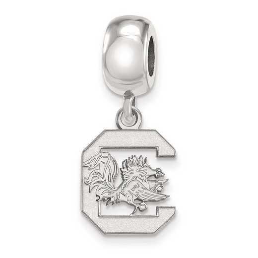 SS036USO: SS Rh-P Logoart U Of South Carolina Small Reflection Beads