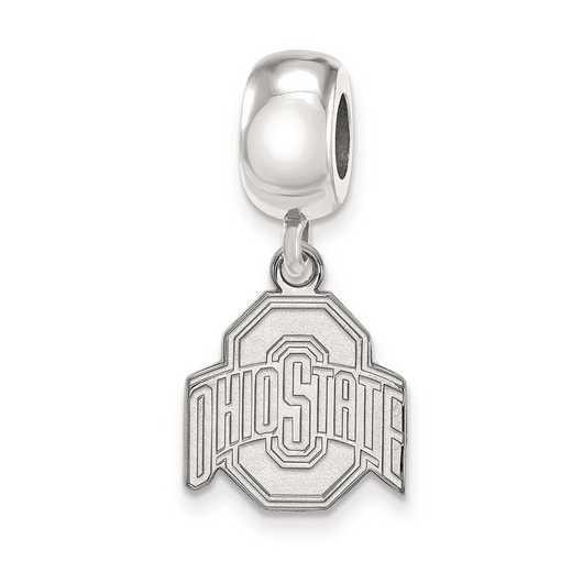 SS037OSU: SS Rh-P Logoart Ohio State Univ Small Reflection Beads