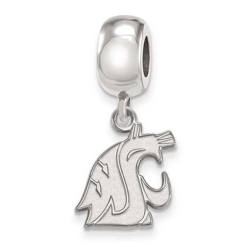 SS044WAS: SS Rh-P Logoart Washington State Univ Charm Reflection Beads