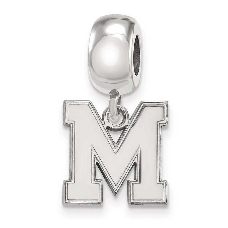 SS050UMP: SS Rh-P Logoart Univ Of Memphis Small Reflection Beads Charm