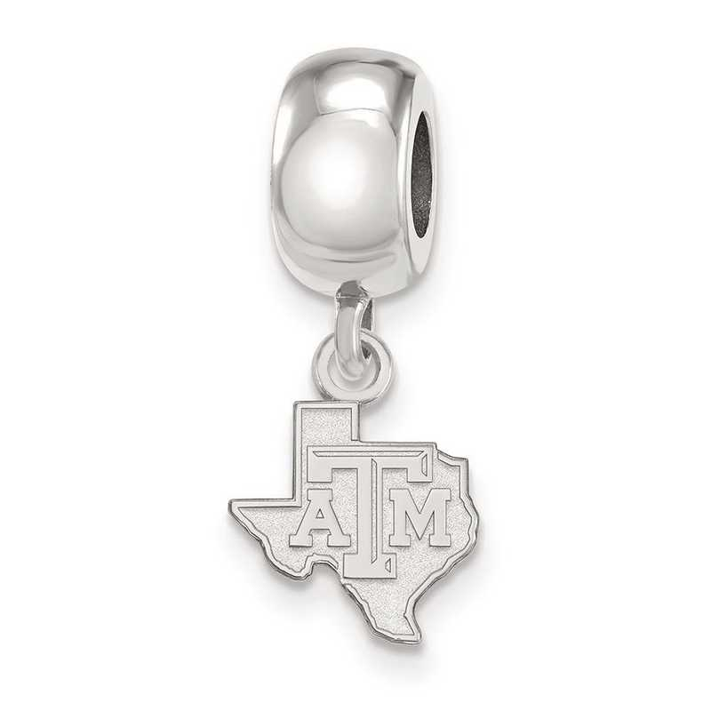 SS052TAM: SS Rh-P Logoart Texas A&M Univ Xs Reflection Beads Charm