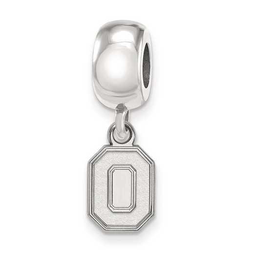 SS058OSU: SS Rh-P Logoart Ohio State Univ Xs Reflection Beads Charm