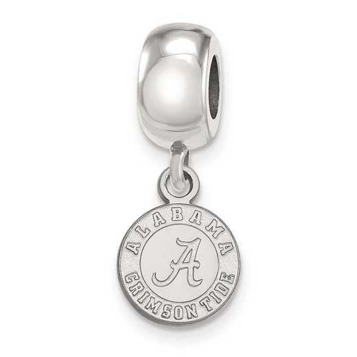 SS058UAL: SS Rh-P Logoart Univ Of Alabama Xs Reflection Beads Charm