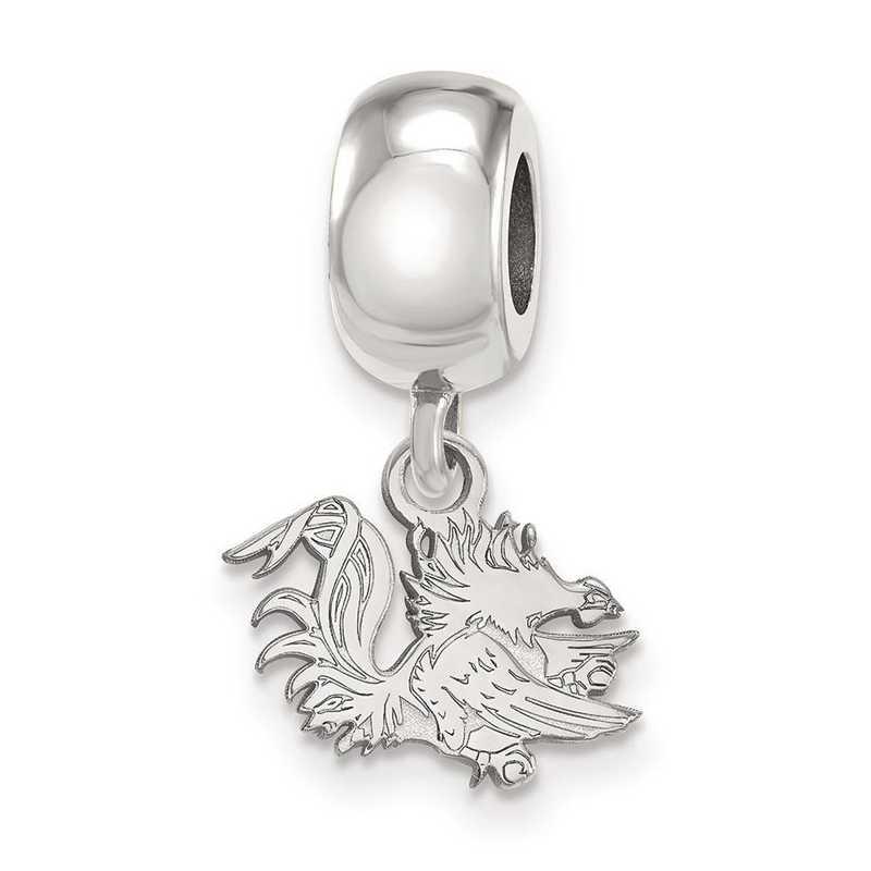 SS058USO: SS Logoart U Of South Carolina Xs Reflection Beads Charm
