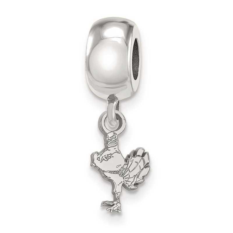 SS058VTE: SS Rh-P Logoart Virginia Tech Xs Reflection Beads Charm