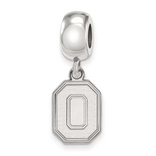 SS059OSU: SS Rh-P Logoart Ohio State Univ Small Reflection Beads