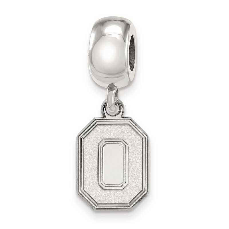SS059OSU: SS Rh-P Logoart Ohio State Univ Small Reflection Beads