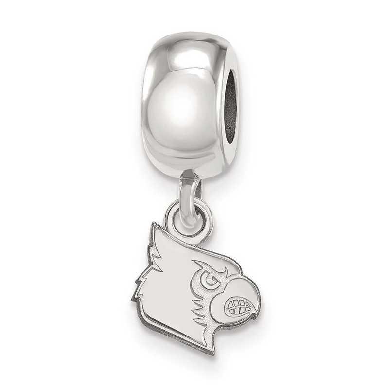SS059UL: SS Rh-P Logoart Univ Of Louisville Xs Reflection Beads Charm
