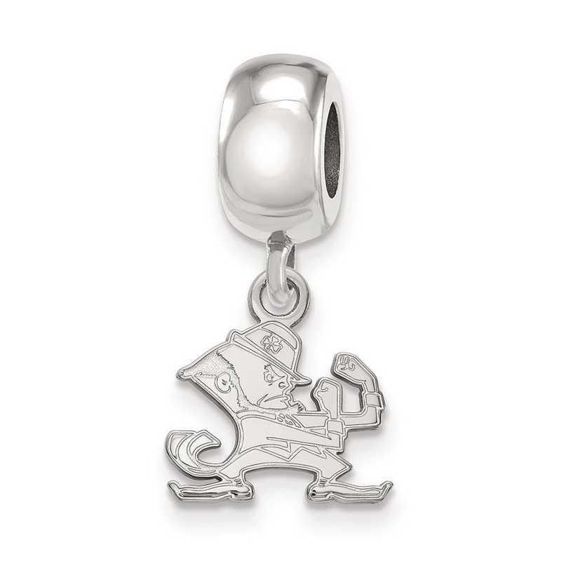 SS060UND: SS Rh-Plat Logoart Univ Of Notre Dame Charm Reflection Beads