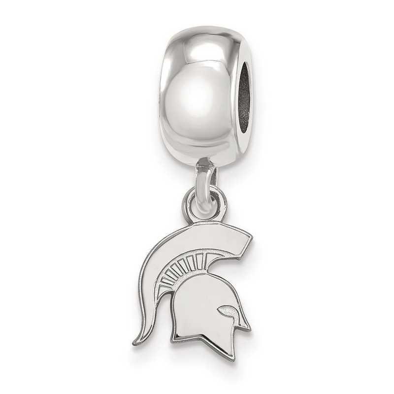 SS061MIS: SS Logoart Michigan State Univ Xs Reflection Beads Charm