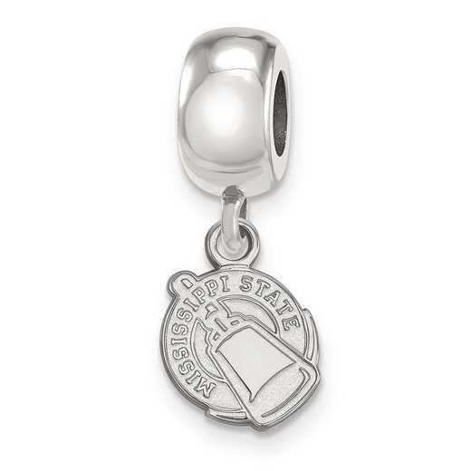 SS061MSS: SS Logoart Mississippi State U Xs Reflection Beads Charm