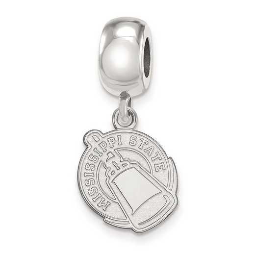 SS062MSS: SS Rh-P Logoart Mississippi State U Small Reflection Beads