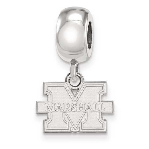 SS069MAU: SS Rh-Plat Logo Art Marshall Univ Reflection Beads Charm Xs