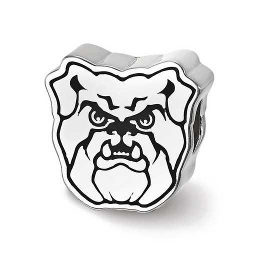 SS500BUT: SS Butler University Bulldog Head Enameled Reflection Beads