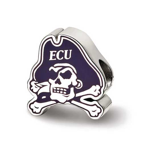 SS500ECU: SS Logoart East Carolina U Primary Enameled Reflection Beads