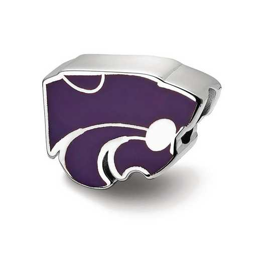 SS500KSU: SS Logoart Kansas State Univ Enameled Logo Reflection Beads