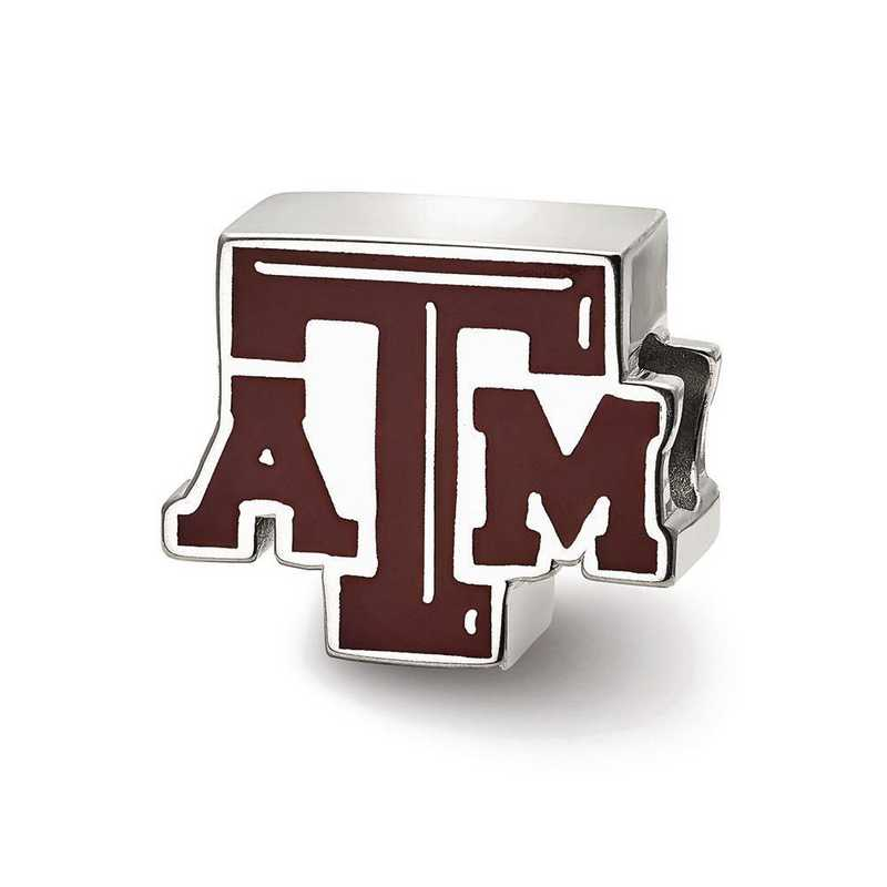 SS500TAM: SS Logoart Texas A&M Univ Atm Enameled Logo Reflection Beads