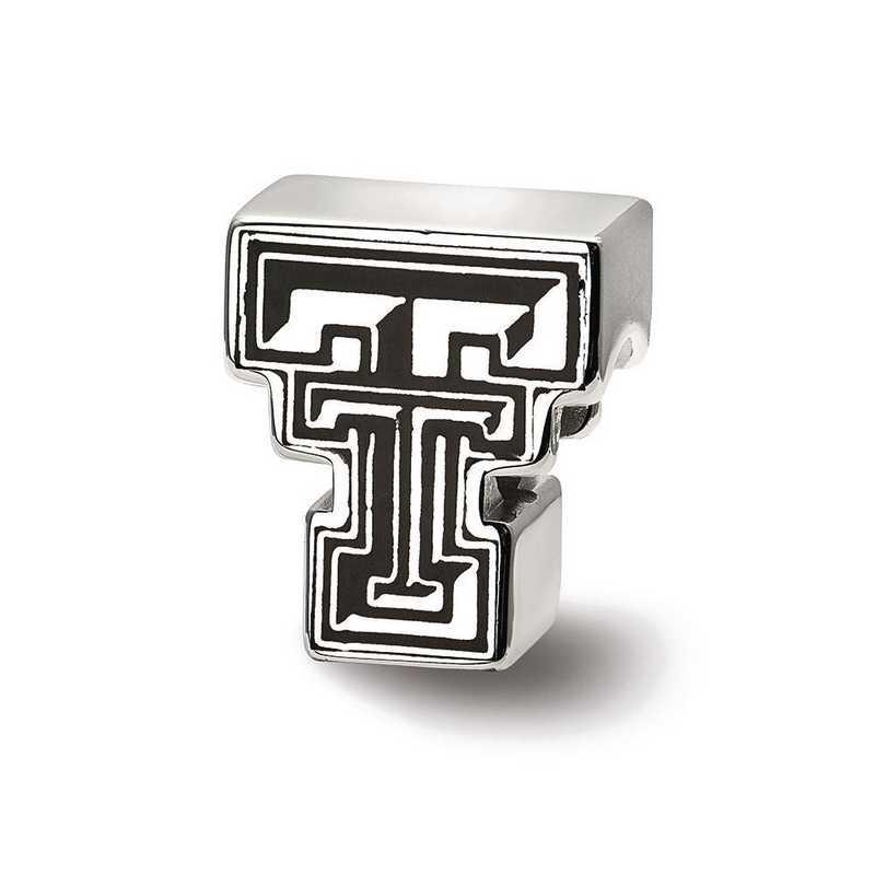 SS500TXT: SS Logoart Texas Tech U Block Tt Logo Reflection Beads