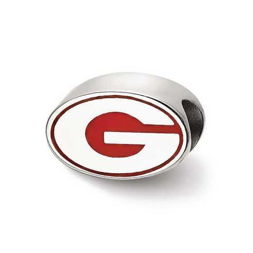 SS500UGA: SS Logoart Univ Of Georgia G Enameled Logo Reflection Beads