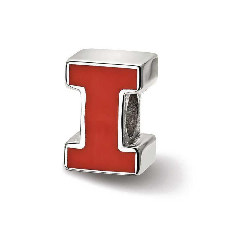 SS500UIL: SS Logoart U Of Illinois Block I Logo Reflection Beads