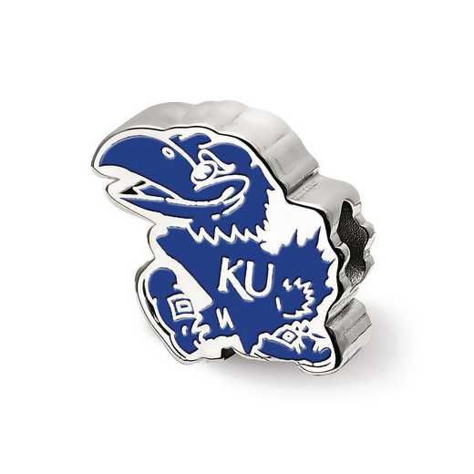 SS500UKS: SS Logoart The U Of Kansas Jayhawk Logo Reflection Beads