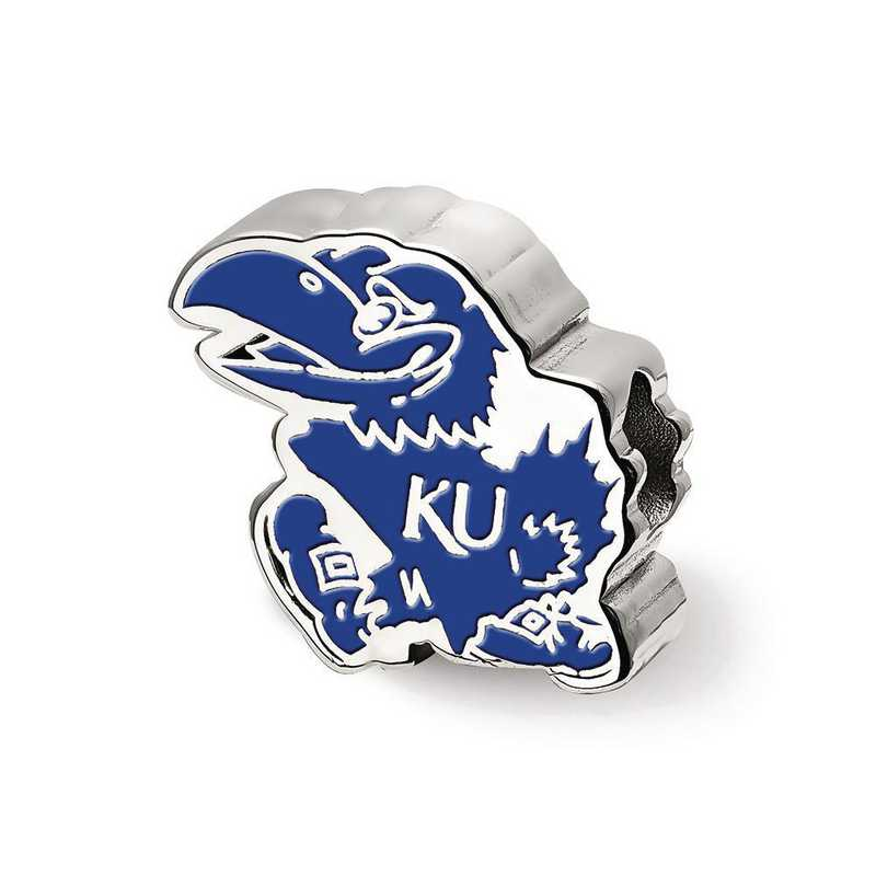SS500UKS: SS Logoart The U Of Kansas Jayhawk Logo Reflection Beads
