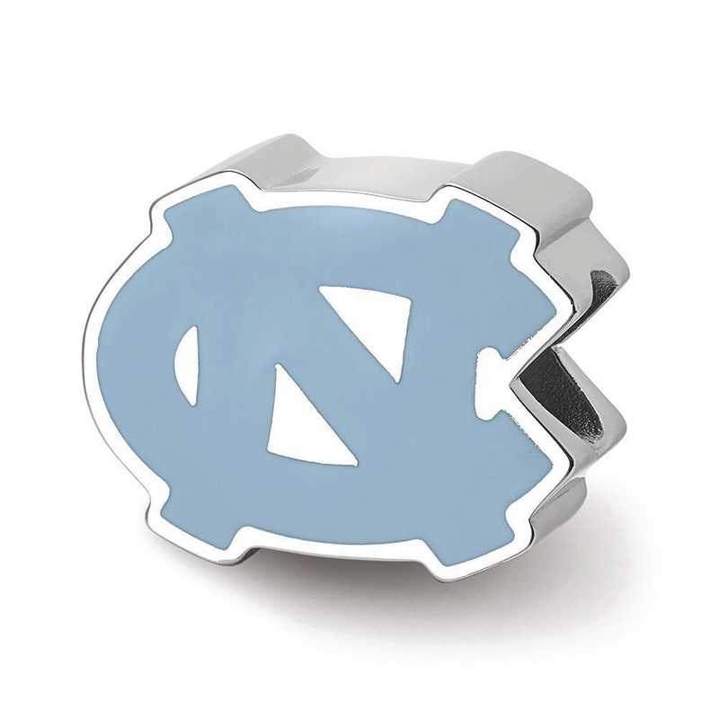 SS500UNC: SS Univ Of North Carolina 1-Sided Enameled Reflection Beads