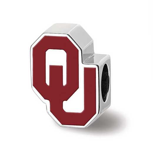 SS500UOK: SS The Univ Of Oklahoma 1-Sided Enameled Reflection Beads