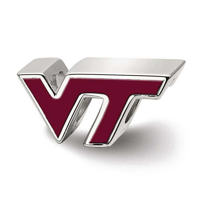 SS500VTE: SS Logoart Virginia Tech Vt Enameled Logo Reflection Beads