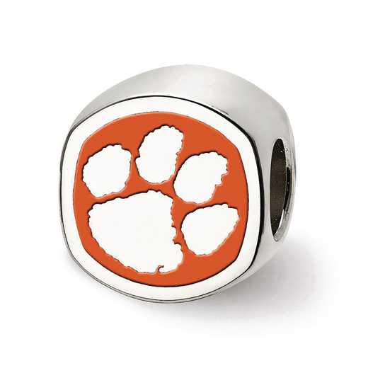 SS501CU: SS Logoart Clemson Univ Cushion Shaped Logo Reflection Beads