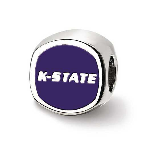 SS501KSU: SS Logoart Kansas St. U Cushion Shaped Logo Reflection Beads