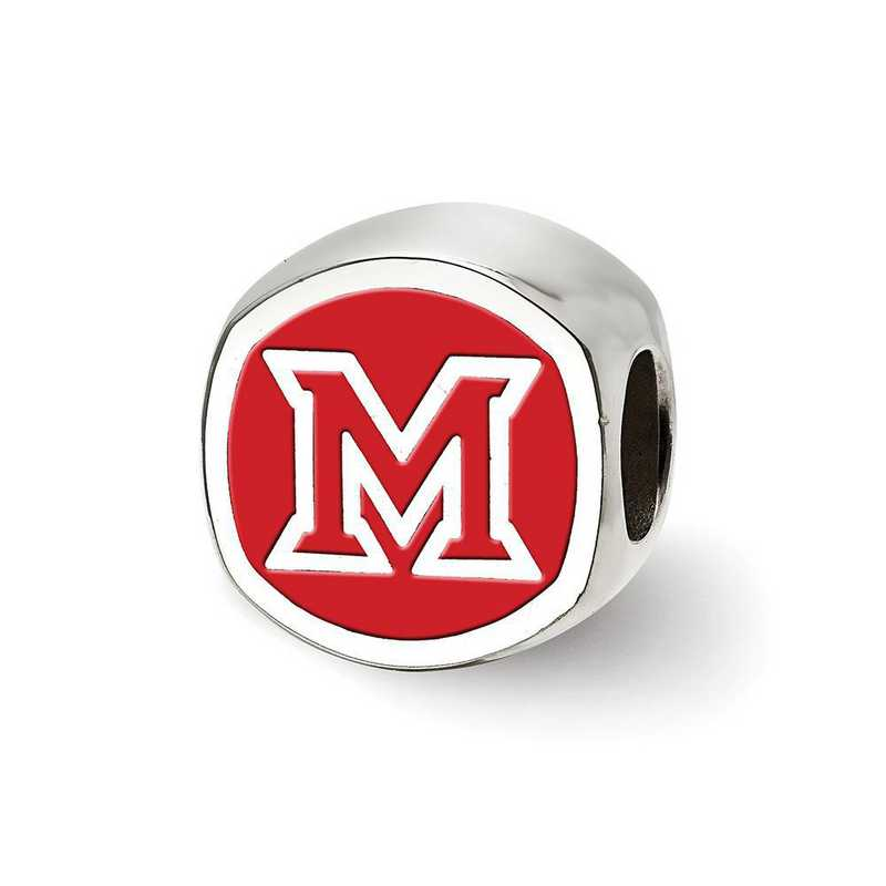 SS501MU: SS Logoart Miami U Block M Cushion Reflection Beads