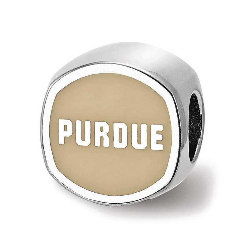 SS501PU: SS Purdue Univ Cushion Shaped Enameled Reflection Beads