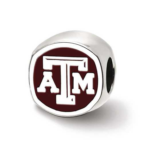 SS501TAM: SS Logoart Texas A&M U Atm Cushion Logo Reflection Beads