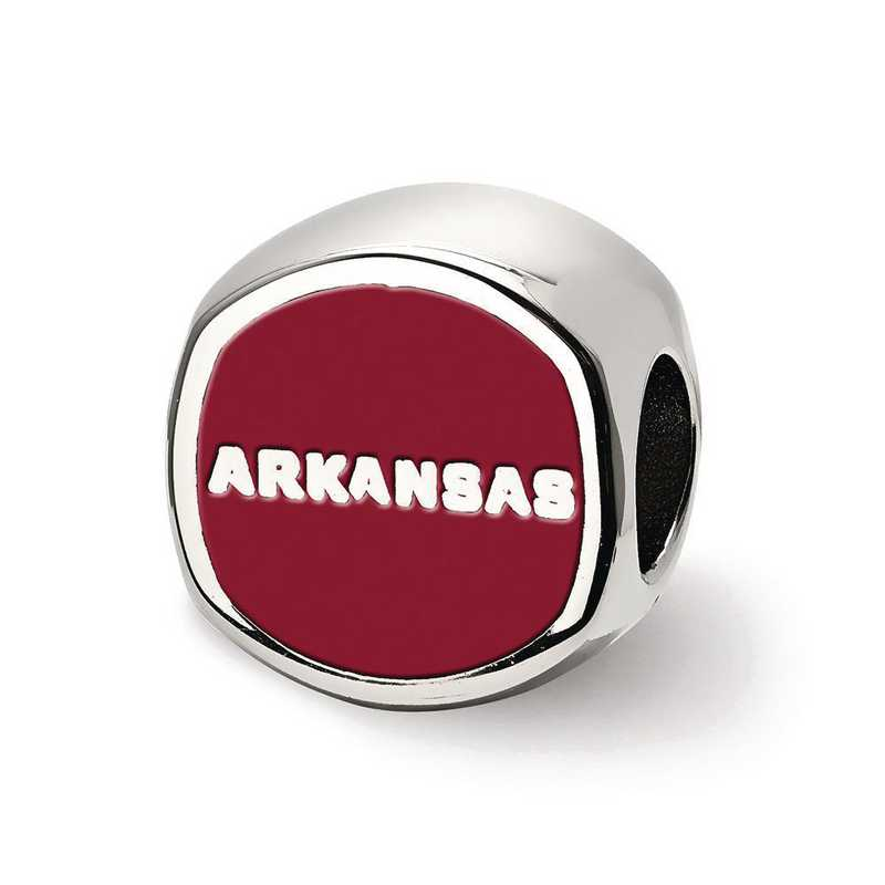 SS501UAR: SS Logoart U Of Arkansas Hog Cushion Reflection Beads